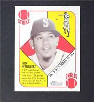 2015 Topps Heritage '51 Collection Mini Red Back #2 Felix Hernandez - NM-MT
