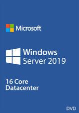 Microsoft Windows Server 2019 Datacenter 64Bit 16 Core License Key Dvd Included