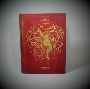 Percaline d'éditeur LE JOURNAL DE LA JEUNESSE illustré 1876 2e semestre Hachette