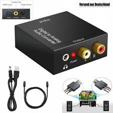 Digital Optisch Toslink Koaxial auf Analog L/R RCA Audio Konverter Adapter&Kabel