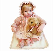 16-Inch Baby Dolls Pink Lovely Girl for Children Vinyl with Bear Cosette