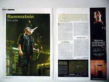 COUPURE DE PRESSE-CLIPPING : RAMMSTEIN [2pages] 12/2005 Paul Landers,Rosenrot