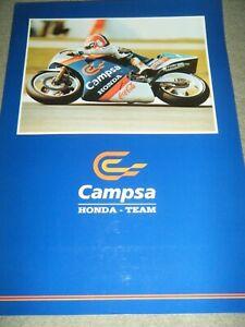 CAMPSA HONDA 1989 PRESS PACK SITO PONS 250CC GERMAN GP PRESS PAPER