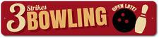 Aluminum Metal Bowling Sign Alley Wall Decor Plaque Gift Idea ENSA100013