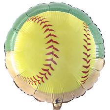 "18"" Girl's Fastpitch Softball Baseball Party Decoration Round Foil Mylar Balloon"