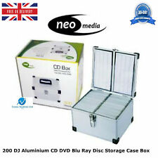 1 x 200 DJ Aluminium CD DVD Blu Ray Disc Storage Carry Case Box Numbered Sleeves