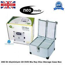 1 x 200 DJ Aluminium CD DVD Blu Ray Disc Storage Carry Case Box Numbered Sleeves