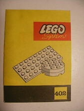 70' RARE anciene notice ORIGINALE instruction manual Lego System Legoland n°402