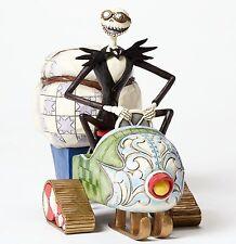 New JIM SHORE DISNEY Figurine NIGHTMARE BEFORE CHRISTMAS Jack Santa SNOW MOBILE
