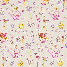 Studio G Allotment Pink Fabric Remnant 100% Cotton 50cm x 40cm