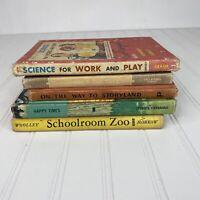 Vintage Antique School Primers Speller Math Lot Of 6 Books Decorative Textbook