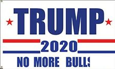 Trump 2020 Flag No More BS 3x5 Feet MAGA Flag Banner Bull $hit White Flag
