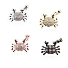 Zircon Micro Pave Star War Fox Fish Crab Evil Connector Charm Beads Bracelet