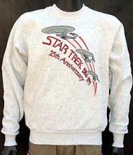 Vintage Star Trek 25th Annversary Embroidered Ship Logo Grey Sweatshirt  MEDIUM
