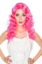 New Halloween Funky Curly Cosplay Wig Hot Pink/ Lilac Purple Party Costume H0094