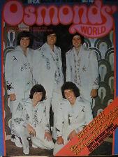 OSMONDS WORLD MAGAZINE - ISSUE 3 JAN 1974 - (INCLUDES OSMONDS POSTER!)