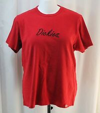 Dickies, 2XL, Red Heavyweight Crew Neck Short Sleeve Top