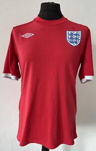 Men's England Away Football Shirt #66 - Red - 2010 / 2011 - Umbro - 42 - Large L