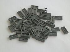 LEGO 2412# 50x grille carreau 1x2 Gris Nouveau Gris foncé 7261 10188 7751 8086
