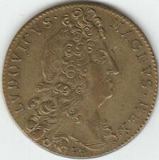 1698 Louis Xiv Peace of Ryswick Nine Years' War Commemorative Brass Jeton Nice