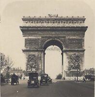 Parigi Arco Di Triomphe Da L Stella Stereo Stereoview Vintage Ca 1920