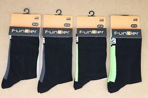2 pair Funkier Arezzo cycling Socks Black/Flo Ylw, Black/Gray 10-13 and 6-9