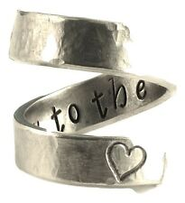 I Love You to the Moon and Back - Friendship Ring - Wrap Ring Handmade