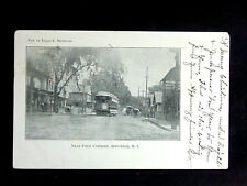 1904 Trolley Stores near Four Corners Apponaug RI PMC post card
