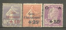 "FRANCE STAMP TIMBRE N°249/51 ""CAISSE AMORTISSEMENT 2eme SERIE 1928"" OBLITERES TB"