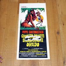 GEOMETRA PRINETTI SELVAGGIAMENTE OSVALDO locandina poster AC86