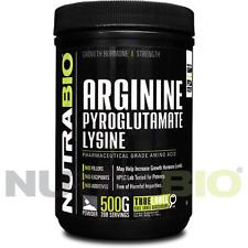 NutraBio L-Arginine Pyroglutamate & L-Lysine 500G Pure