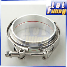 "4"" V-Band Vband Clamp Aluminum Flange Flanges Turbo Intercooler Piping Kit"