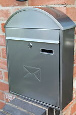 Large Stainless Steel Wall Mounted Post Box - Letter Box