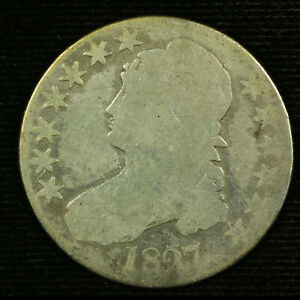 Capped Bust Half Dollar. 1827 Circulated. Lot # 9038-94-0027