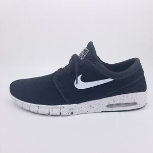 Nike Stefan Janoski Max Leather Men's 12 Black/White Shoe Sneaker 631303-002