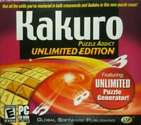 Kakuro Puzzle Addict: Unlimited Edition (PC CD-ROM 2005) Windows