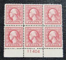 nystamps US Stamp # 528 Mint OG H $100 Plate Block Of 6