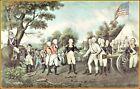 Currier & Ives: Surrender of General Burgoyne at Saratoga N.Y.  Art Print