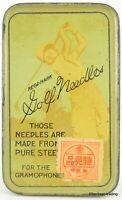 GOLF brand gramophone needle tin.