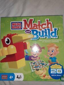 BNIB Mega Blocks Match and Build Board Game Puzzle Age 4 +