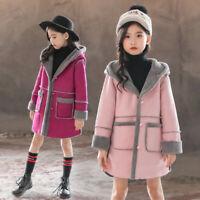 Autumn Winter Woolen Coat  Warm Jacket Kids Overcoat Girls Wool Coat Windbreaker
