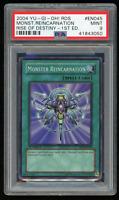 2004 YU-GI-Oh! RDS-EN045 Monster Reincarnation 1st Edition-PSA 9 MINT-Super Rare