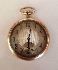 Antique ELGIN NATL Pocket WATCH CO USA 15 Jewels Sub Sec Gold Plated Working/Run