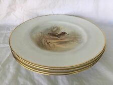 "Set of 4 ROYAL WORCESTER Wild Game Bird 10.5"" Plates Hand Painted JAMES STINTON"