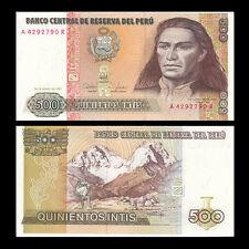 Peru 500 Intis, 1987, P-134, UNC