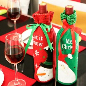 Wine Bottle Decoration Santa Claus Cover Bags For Christmas Household Party