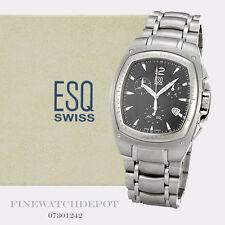 Authentic Men's ESQ Swiss Stainless Steel Bracer Watch 07301242
