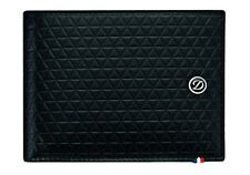 ST Dupont Fire Head Black Soft Diamond Leather Wallet ST180090