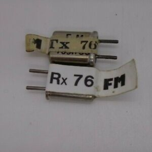 FUTABA  CHANNEL 76 TYPE TX AND RX SINGLE CONVERSION CRYSTALS 35MHZ