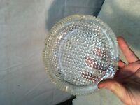 "Vintage Crystal Clear Heavy Cut Glass 7"" Ashtray Mid Century Retro Mid Century"